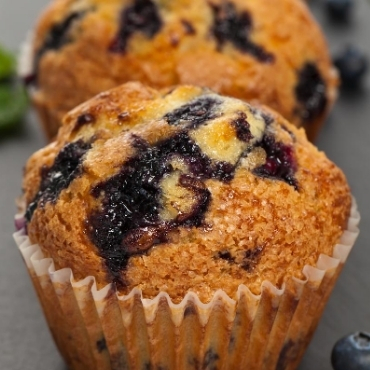 Keto Instant Pot Blueberry Muffins