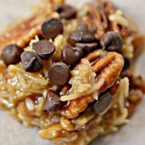 no bake keto caramel cookies