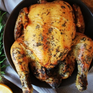 slow cooker whole chicken lemon rosemary style